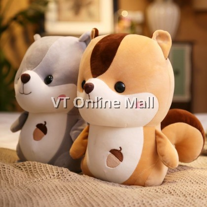 Big Tail Adorable Soft Squirrel Plush Toy Doll
