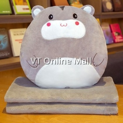 Cute Animal Cushion Pillow With Blanket (3 in 1)