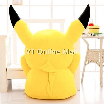 Cute Happy Raising Hand Pikachu Soft Plush Toy Doll (45cm)