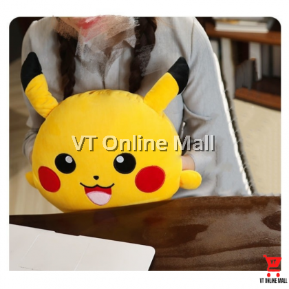 Cute Pikachu Cushion Pillow With Blanket (3 in 1)