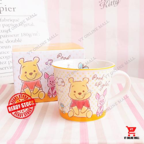 Winnie The Pooh Cup Small Size Mug Spoon Lid With Beautiful Cartoon Box (250ml - 300ml)